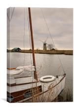 On The Broads, Norfolk, Canvas Print