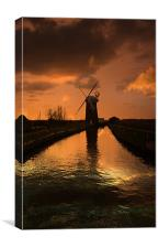 Horsey Mill At the End Of The Day, Canvas Print