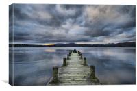 Jetty on Lake Windermere, Canvas Print