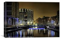 Clarence Dock, Leeds, Canvas Print