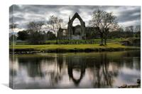 Bolton Abbey Reflection, Canvas Print