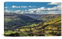 Swaledale Valley, Canvas Print
