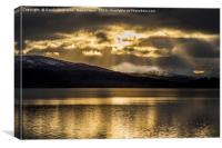 Heavenly Rays at Loch Garry, Canvas Print