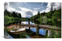 Boat At Loch Ard, The Trossachs, Canvas Print
