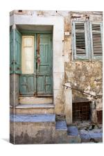 Old Sicilian House, Canvas Print