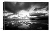 Harlyn Bay in Black and White, Canvas Print