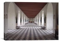 Gallery in Chateau Chenonceau, Canvas Print