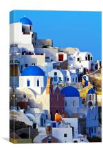 blue domes, Canvas Print