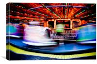 Waltzers on the pier, Blackpool, UK, Canvas Print