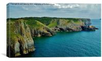 Pembrokeshire coast, Canvas Print