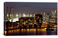 London Docklands by Night, Canvas Print