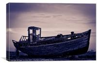 An Old Wrecked Fishing Boat 7, Canvas Print