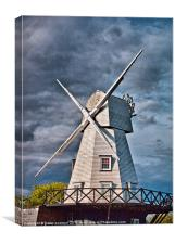 The Rye Windmill, East Sussex., Canvas Print