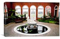 Galatea, Marble Statue in Avery Hill Winter Garden, Canvas Print