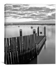 River Medway Landing Stage, Canvas Print