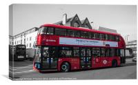 Londons New Routemaster Bus, Canvas Print