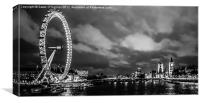 Westminster and The London Eye, Canvas Print