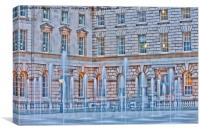 Somerset House Fountains, Canvas Print