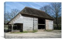 The Cowfold Barn, Canvas Print