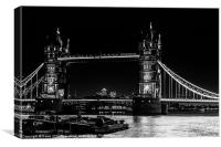 Tower Bridge with London Barges, Canvas Print
