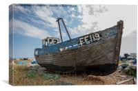 Wrecked Boat Dungeness, Canvas Print
