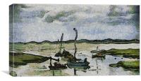 Boats on River Medway, Canvas Print