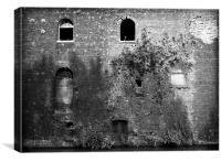 Old canalside warehouse, Canvas Print