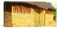 South African Thatched Huts, Canvas Print