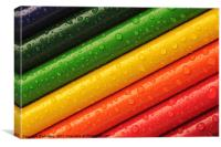 Rainbow Crayons, Canvas Print