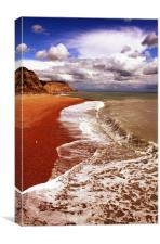 Hastings Beach, Canvas Print