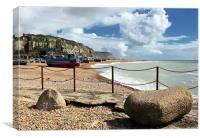 Hastings Shore, Canvas Print