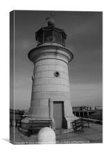 Lighthouse at Ramsgate harbour entrance, Canvas Print