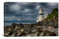 Cloch Lighthouse, Canvas Print