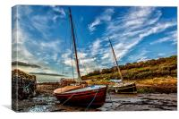 Waiting on the tide, Canvas Print
