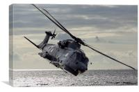 Merlin Helicopter, Canvas Print