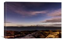 Arran at night, Canvas Print
