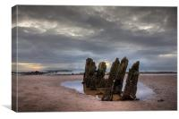 Old ship wreck, Canvas Print