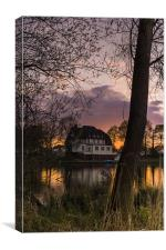 Evening in Spring at the Lake 2013 II, Canvas Print