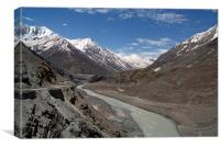 Chandra River Lahaul Valley, Canvas Print