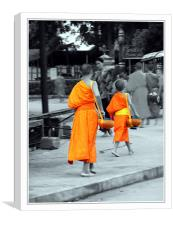Collecting Alms, Canvas Print