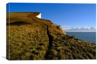 Climbing Path on the White Cliffs of Dover, Canvas Print