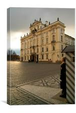 Guarding Prague Castle, Czech Republic, Canvas Print