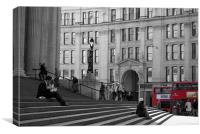 London Buses at St Pauls in London, Canvas Print