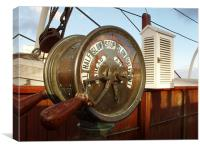 Engine Order Telegraph on SS Discovery, Canvas Print