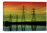 Sunset Pylons, Canvas Print