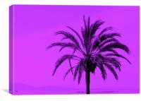Purple Palm, Canvas Print