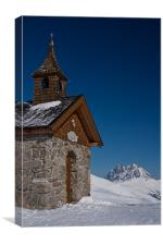 St.Mary in the snow, Canvas Print