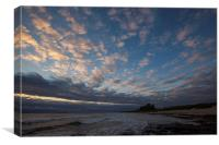 Sunrise at Bamburgh castle, Canvas Print