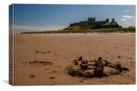 Bamburgh Castle beach, Canvas Print