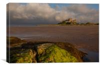 Bamburgh Castle @ sunset, Canvas Print